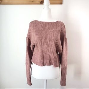 NEW Topshop Crepe Rose Cropped Blouse Sz 4